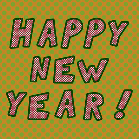Cartoon style Happy new year illustration 矢量图像