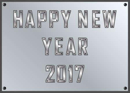 Simple happy new year 2017 illustration