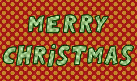 Merry Christmas cartoon style illustration 矢量图像