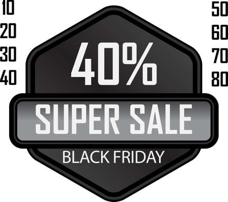 Black Friday sale badge 矢量图像
