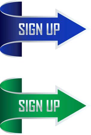 arrow sign: Sign up arrow illustration