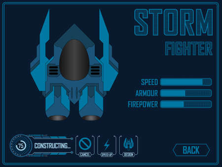 spaceship for video games