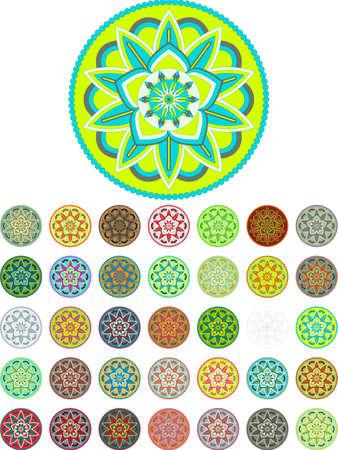 Colorful abstract mandala vector pack