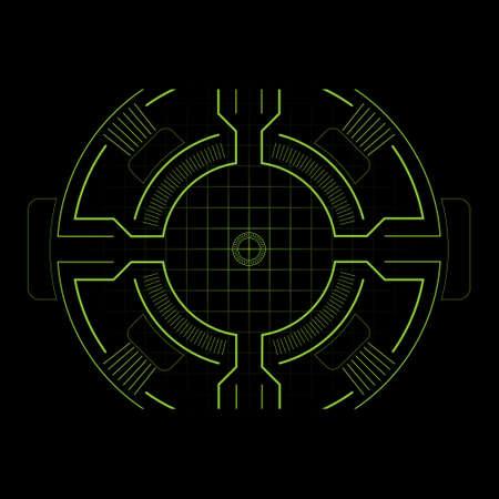 hi-tech target for video games 矢量图像