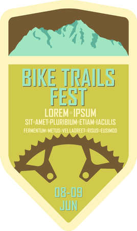 Vintage style badge for a mountain biking race or festival 矢量图像