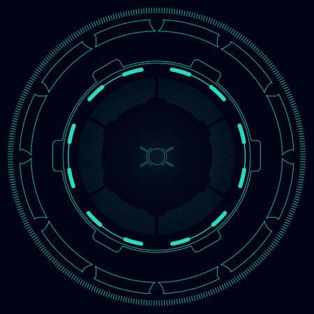 Hi-tech target for video games illustration. 矢量图像