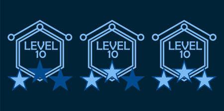 Level complete badges vector set 矢量图像