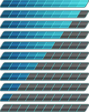 Colorful progress bar vector set