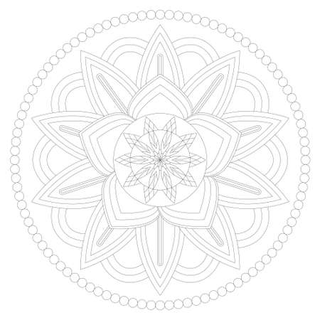 Ready to paint and colorize vector mandala
