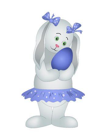 Vector illustration: The girl-doe-rabbit with heart Stock Vector - 6594544