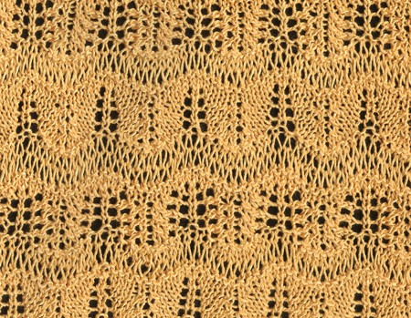 manually: Handmade: knitted manually a woollen cloth, close up