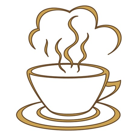 the good life: Coffee cup with fragrant steam. Morning, a breakfast, good joyful day