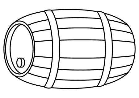 Barrel wood Stock Vector - 8479588