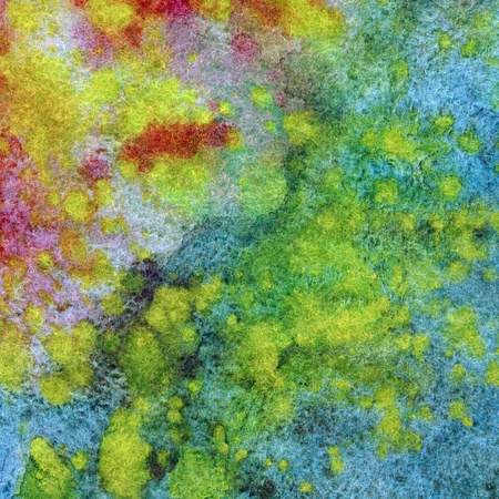 Abstract paint background: watercolor on a fabric, natural woollen mohair photo