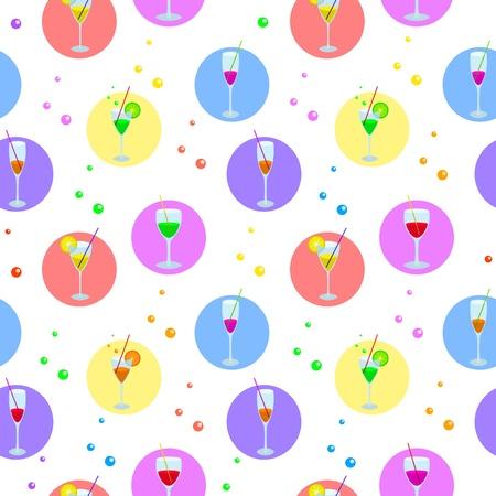 bocal: sfondo senza soluzione di continuit�, occhiali con varie bevande colorate, circle e bolle