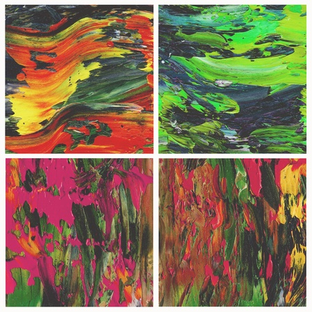 Abstract backgrounds, oil paints, set photo