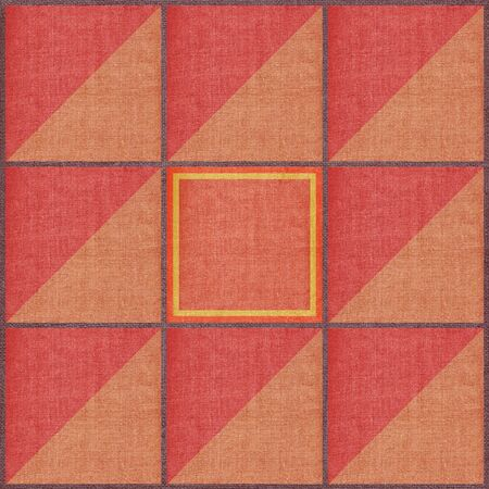 Set abstract backgrounds, colour squares and triangles on a linen canvas photo