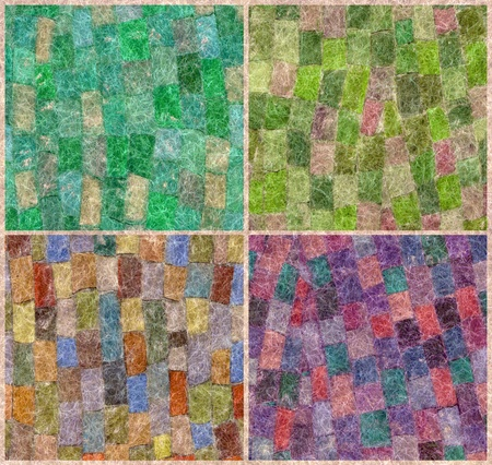 Abstract artistic background, mosaic of colored wool mohair photo