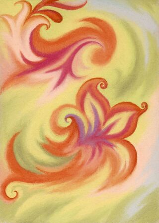 Abstract artistic background. Picture, pastel, hand-draw, painting on paper photo