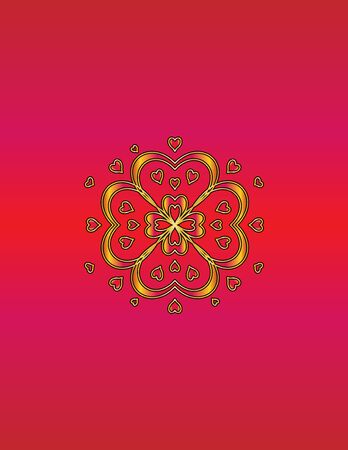 scarlet: Abstract background pattern  gold pattern on a scarlet design Stock Photo