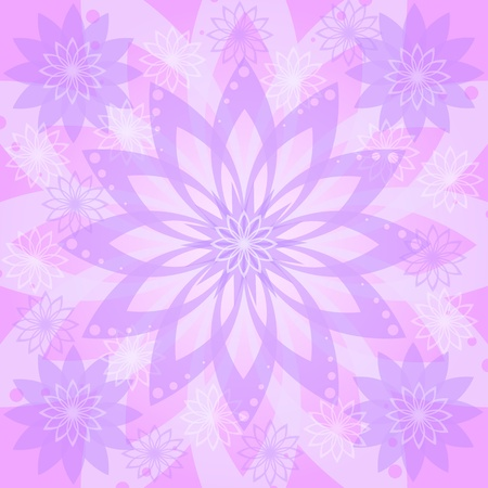 Abstract pink, lilac and white floral background  flowers silhouettes and contours  Vector eps10, contains transparencies Stock Vector - 13493336