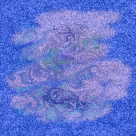 Abstract paint background  watercolor on a fabric, natural woollen mohair photo
