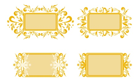 Abstract backgrounds, banners, plates with floral pattern  Vector Vector