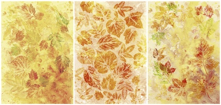 Abstract background, watercolor  leaves, hand painted on a paper photo