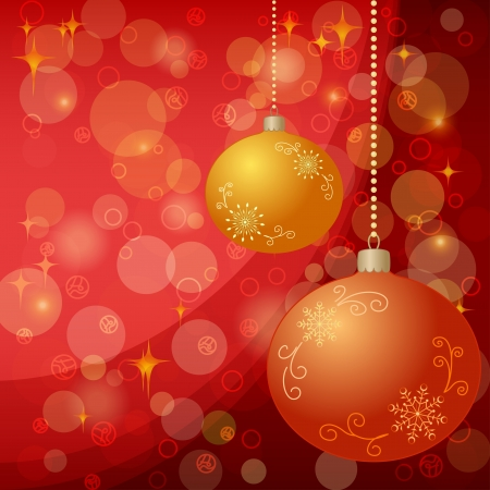 Christmas holiday background  balls, stars and circles