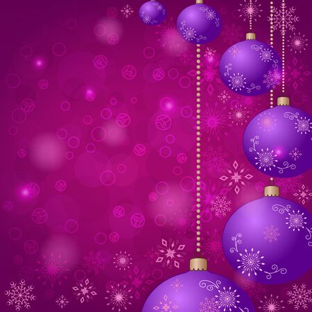 Christmas holiday background  balls, snowflakes Vector