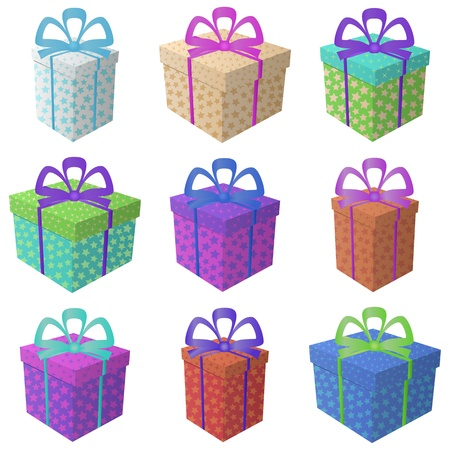 Gift holiday boxes Stock Vector - 16374297