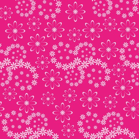 Seamless floral background, pink symbolical silhouette flowers  Vector Stock Vector - 16895030