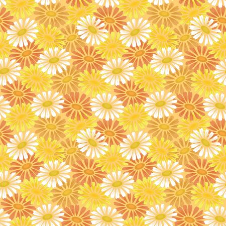 Seamless floral background, symbolical colorful chamomile flowers  Vector Stock Vector - 17621845