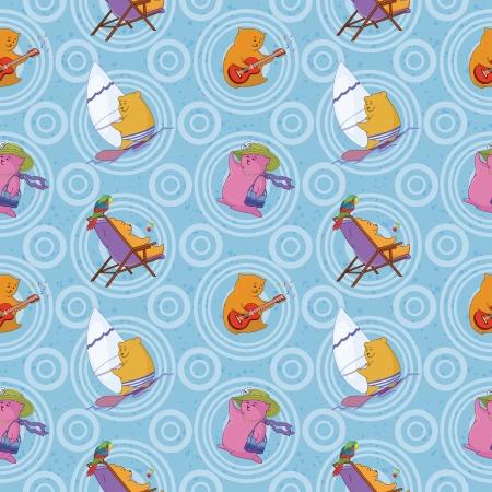 sem costura: Seamless fundo, animais de brinquedo dos desenhos animados e teste padr