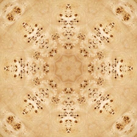 Seamless background, abstract pattern, wooden veneer poplar root photo