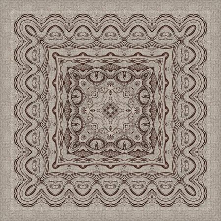 nahtlose knstlerischen hintergrund abstrakte grafische muster auf vintage leinwand standard bild 30168188 - Grafische Muster