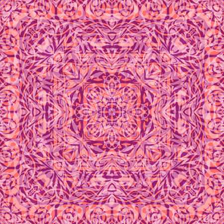 symbolical: Seamless Abstract Background with Symbolical Floral Pattern. Eps10, Contains Transparencies. Vector