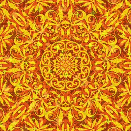 symbolical: Seamless Abstract Background with Symbolical Floral Pattern. Illustration