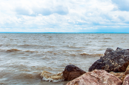 novosibirsk: View from the shore of the man-made lake, reservoir Ob Sea, Novosibirsk, West Siberia, Russia