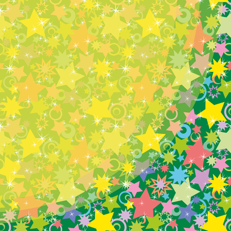 holiday background: Abstract Holiday Background, Pattern of Colorful Stars.