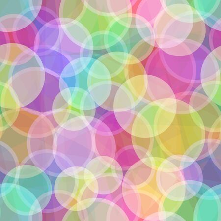 transparencies: Seamless Abstract Background, Colorful Geometrical Figures, Circles and Rings. Contains Transparencies.
