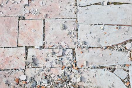 Texture of Old Broken Damaged Glaze Dalle Stock Photo