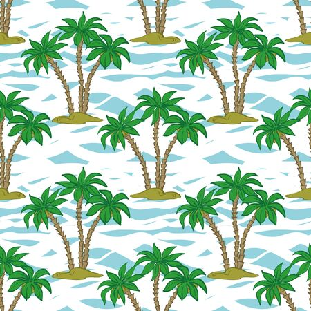 Exotic Landscape Seamless Pattern