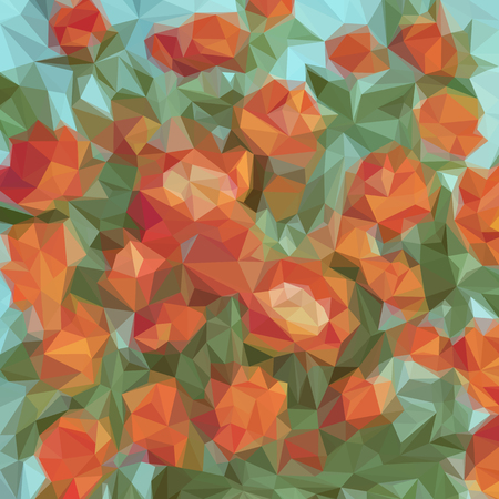 Background with abstract low poly polygonal geometrical pattern. Vector illustration.