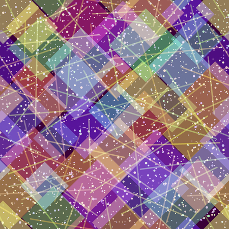 A Seamless Background, Abstract Tile Pattern, Colorful Geometrical Figures and Lines.