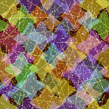 Abstract Colorful Geometric Tile Pattern Ilustração
