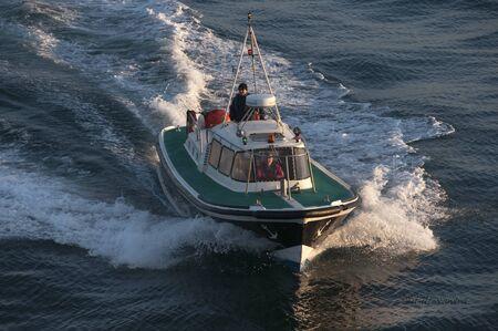 pilot light: pilot boat with pilot
