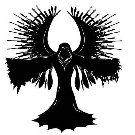 Black angel of war Иллюстрация