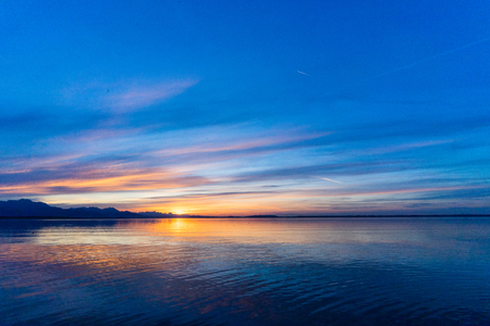 Sunset at the Chiemsee Imagens
