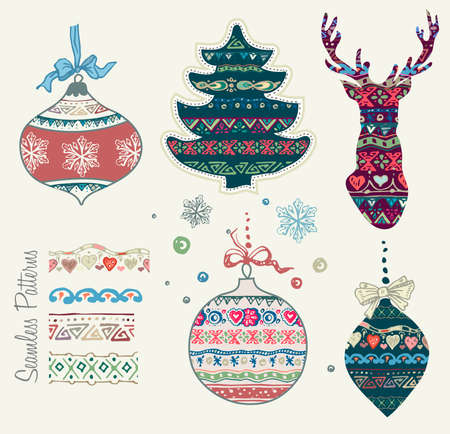 sketched shapes: Ai eps10. File grouped and layered. Christmas